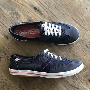 Keds Sneakers Shoes Navy Blue Lace Up 9